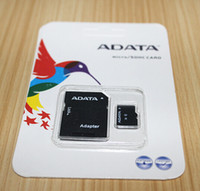 Wholesale Adata Micro Sdhc - 100% Real orginal capacity ADATA 64GB 32GB 16GB 8GB 4GB 2GB C10 Micro SD TF Memory Card Free SD Adapter Retail Blister Package microSD SDHC