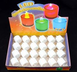 Velas de ámbar online-Led vela LED sin humo sin llama batería Ámbar té Luz Boda Fiesta de cumpleaños Romántico Día de San Valentín Decoración navideña Velas