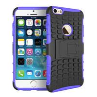 Wholesale Iphone 4s Proof Case - MINI 50P COLOR KickStand Impact Rugged Heavy Duty TPU+PC Hybrid Shock Proof Cover Cases For iphone 4 4S 5 5S SE 6 6S 7 6 PLUS 7 PLUS 100PCS
