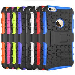 Wholesale Iphone 4s Impact Cover - MINI 50P COLOR KickStand Impact Rugged Heavy Duty TPU+PC Hybrid Shock Proof Cover Cases For iphone 4 4S 5 5S SE 6 6S 7 6 PLUS 7 PLUS 500PCS
