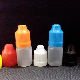 $enCountryForm.capitalKeyWord Canada - Eliquid Bottles 5ml Plastic Bottles CHILD Proof Caps and Dropper Tips for Liquids EYE DROPS E-CIG OIL 4100 Pcs Factory Wholesale