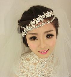 Wholesale Wedding Elegant Headdresses - Charming & Elegant Wedding Bridal Jewelry Crystal Headpiece Tassel Headdress Hair Accessories Headband