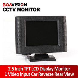 Wholesale Cctv Cameras Cars - 2.5 inch Digital TFT LCD Color Car Monitor,cctv camera Monitor with 1way video input