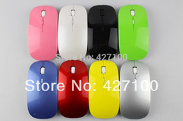 Wholesale Pink Gaming Mouse - Wholesale-Brand New Wireless Gaming Mouse Optical Computer PC Laptop Mouse Mice Pink Mouse 2.4GHz 800 1000 dpi 10 meter control range