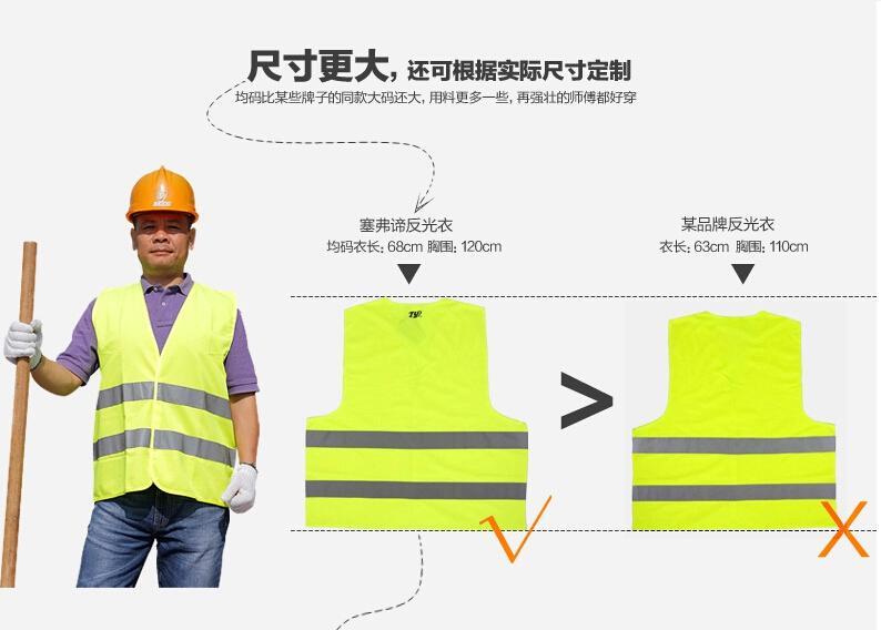 Hohe Sichtbarkeit Reflektierende Sicherheitsweste Mantel Sanitation Weste Verkehrssicherheit Warnkleidung Weste Sicherheit Warnwesten + Schnelle Lieferung