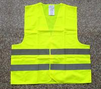 chalecos de seguridad envío gratis al por mayor-La moda Chaleco de Seguridad Reflectante de la Capa de Saneamiento chaleco de Seguridad de Tráfico de Advertencia de Ropa Chaleco Reflectante ropa en la Noche el Envío Gratuito