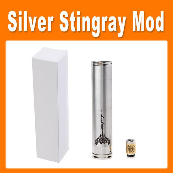E cigarette stingray mod mechanical mod with ss and brass stingray mod clone with 510 thread for AQUA atomizer by DHL 0207038