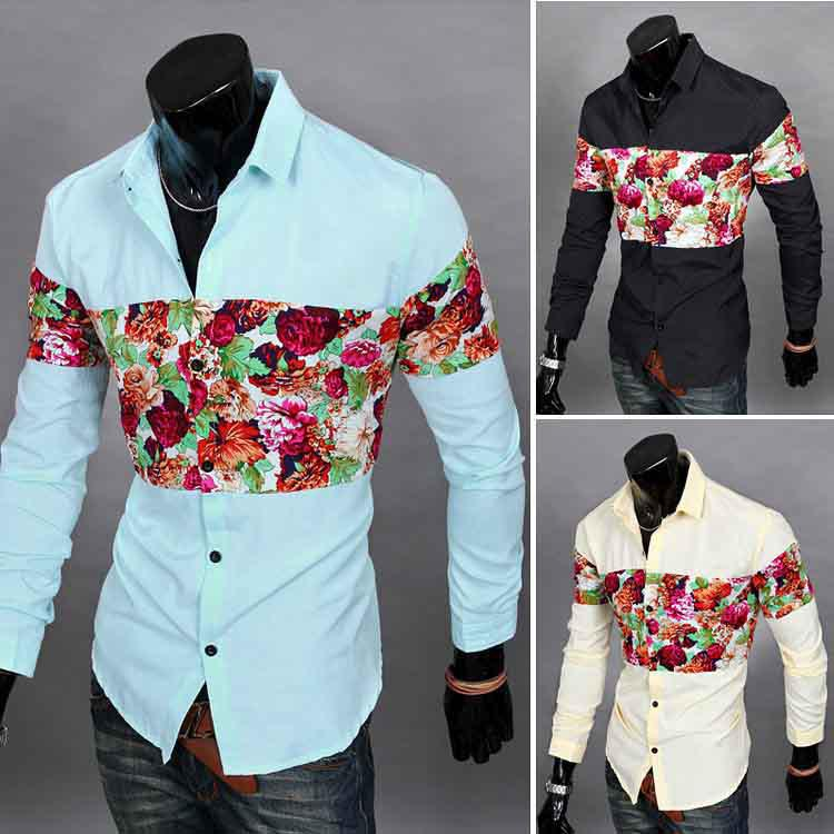 mens casual dress shirts long sleeve custom shirt