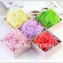Wholesale Wholesale Filler Paper - Wholesale-new arrival DIY gift decoration Craft material Shred paper Rayon Raffia present Filling Material Filler Raffia Free shipping