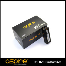 Wholesale Electronic Pure - Pyrex Electronic Cigarette Tank Newest Product K1 Clearomizers Aspire Atomizer Aspire BVC Glassomizer Huge Vapor Pure Taste 1.5Ml Glass Tank