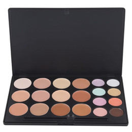 Wholesale Brush Colour - I Pcs 20 Colour Professional Makeup Camouflage Concealer Palette with two brush Free shipping