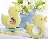 Wholesale Wholesale Baby Shower Frames - Hot Sale yellow cute My Little Duckling Baby Duck Photo Frame cheap baby shower favor Free Shipping