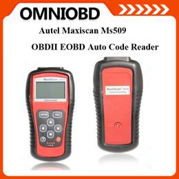 Wholesale Toyota Diagnostic Equipment - Hottest Car code reader Autel MS509 OBDII EOBD auto diagnostic tool maxiscan MS509 Automotive Diagnostic Equipment Scanner