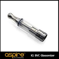 ingrosso aspirare i carri armati-All'ingrosso Aspire BVC K1 Atomizzatore Glassomizer 1.5Ml Pyrex E Cig Atomizzatore Serbatoio 1.8ohm Aspire K1 serbatoio 100% Originale