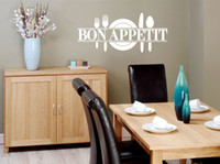Wholesale French Restaurants - Bon Appetit French Kitchen Restaurant Decoration Vinyl Wall Sticker Art Wall Decals