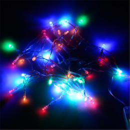 Battery Operated Fairy Lights Purple Canada - Battery String 1M 2M 3M 4M 5M LED String Mini Fairy Lights 3XAA Battery Operated White Warm White Blue Yellow Green Purple Pink Christmas