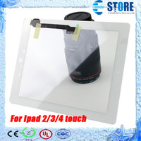 Wholesale Ipad2 Lcd Screen - NEW LCD Touch Screen For Ipad 2 3 4 Touch Screen Digitizer Screen Glass Replacement with 3M Glue,DHL free, wu