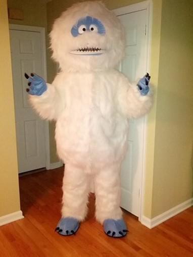 Acquista mascot bianco neve mostro yeti del costume della mascotte
