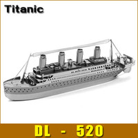 Wholesale 3d Cruise Ship - Wholesale-DIY model Build Metal 3D Models Metallic Nano Puzzle DIY 3D Titanic Cruises loose pulley Laser Cut 3D Model,1 pcs free shipping