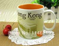 Wholesale Starbucks Ceramic Coffee Cups - Wholesale-Ceramic material Starbucks city mug,office cup, coffee mug, can be a nice gift. 16 cities available, free shipping. (470ml 16oz)
