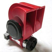 Wholesale trumpet car horn - Snail Nautilus Standard 12V Red Twin Auto Air Horn Trumpet 139dB Car Truck [QPL38]