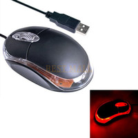 Wholesale Hand Laser Led - Wholesale-USB 2.0 High DPI Gaming Mice Mouse Wired Cord Optical Red LED Scroll Computer PC Mouse