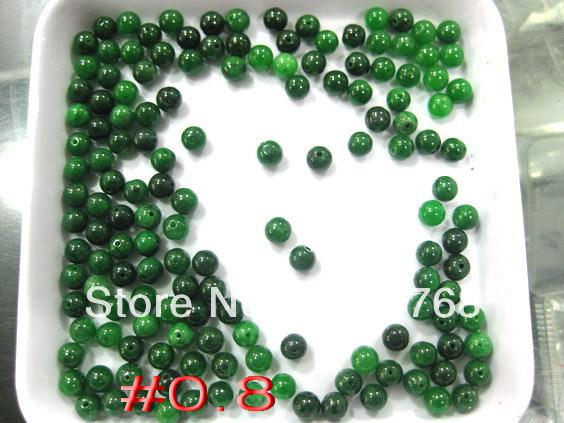 NEW Eximious Burma green jade each round Grain FREE SHIPPING