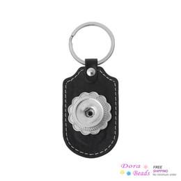 """Le catene chiave si adattano online-Portachiavi in pelle Portachiavi Ovale Nero Fit Scatta Belle Bottoni 9cm x 3.6cm (3 4/8 """"x 1 3/8""""), 3PCs (B35774)"""