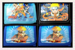 Wholesale Naruto Coin Wallets - 12 pcs Fashion Wallet Naruto Cartoon Wallet Kid's Purse Zero wallets Free shipping