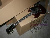 Wholesale Sg Guitar Brown - Custom Shop Brown SG Model Electric Guitar OEM Guitar Wholesale Best Selling free shipping