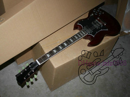 Wholesale Mahogany Ship Models - Custom Shop Brown SG Model Electric Guitar OEM Guitar Wholesale Best Selling free shipping