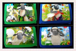 Wholesale Shaun Bag - Wholesale new 12pcs Shaun the sheep wallet coins bag mix order Free shipping