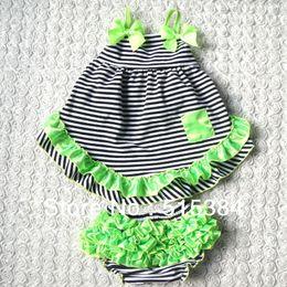 Wholesale Swing Back Baby - Wholesale-Girl Toddler swing back set Baby Custom Boutique Clothing Zebra Top Ruffle Pant Outfit Set three sizes 3sets lot