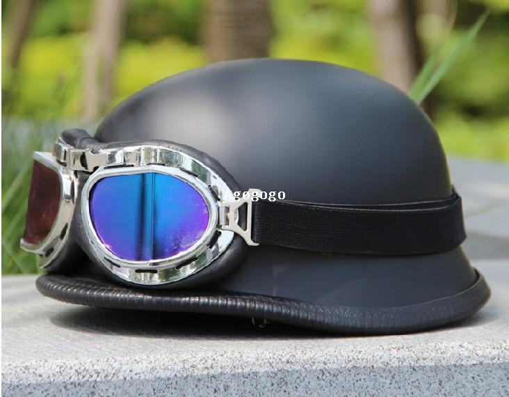 Free shipping 1 pc German helmet pull breeze fashion world war ii German  helmet Half helmet with goggles