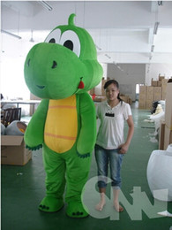 Wholesale Dragon Head Costume - Big Head Grass Green Dragon Garment Walking Props Cartoon Mascot Cartoon Cartoon Doll Custom