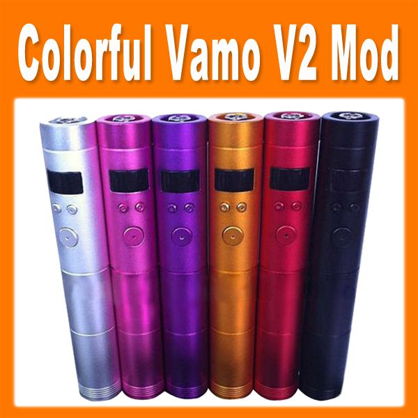 2014 New Arrival Colorful Vamo V2 Mechanical Mod V2 Battery Body Variable Voltage Mod for eGo Series Ecig Kits E Cig Clearomizer 0207034