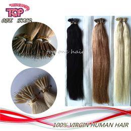 Wholesale Nano Ring Human Hair Extensions - 6A grade, nano ring hair extensions Brazilian Virgin hair,100% Human hair weave unprocessed human hair extensions