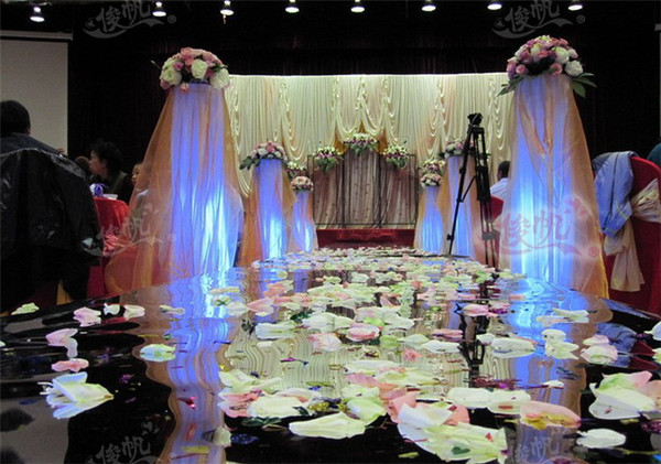 Wedding Centerpieces Mirror Carpet Aisle Runner Gold Silver Double Side Design T Station Decoration Wedding Favors Carpets 2015 New Arrival