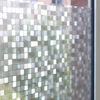 Wholesale Colorful D static free plastic film to the glass windows of the office balcony window sticker affixed UV resistant matte mosaic