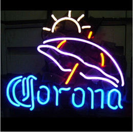 $enCountryForm.capitalKeyWord NZ - CORONA&SUN Neon Sign Real Glass Tube Bar Store Business Advertising Home Decoration Art Gift Display Metal Frame Size 18''X18''