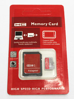 Wholesale Micro Sdhc 64gb Flash Memory - Class 10 64GB 32GB 16GB micro SD Card TF Memory Card C10 Flash SDHC SD Adapter Free Retail Package memorygeek