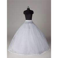 Wholesale Underskirt Bridal Wedding Petticoat Train - 3Layers Super Ballgown Petticoat Lace Edge Wedding Chapel Train Bridal Underskirt Bridal Accessories