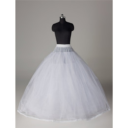 Wholesale Ballgown Train - 3Layers Super Ballgown Petticoat Lace Edge Wedding Chapel Train Bridal Underskirt Bridal Accessories