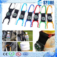 Wholesale M Bottled Water - Carabiner Clip Water Bottle Holder Camping Compass Snap hook clip-on outdoor ,M