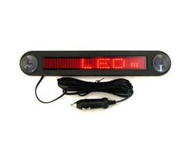 Wholesale Car Door Signs - with Retail package 12V LED Message Digital Moving English display Scrolling Car Sign Light Red LED door windows display With Cables