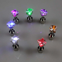 Wholesale Xmas Earrings Wholesale - NEW fashion earings Square shape led studs earring for Xmas Party Accessories