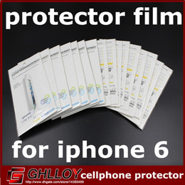 Screen protector film Stock online shopping - in stock Matting High transparence LCD Screen protector film Guard Protector Cover Film for iphone6 with retail package UP