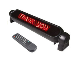 Wholesale Car Message - 12V Red LED Scrolling Car Sign Board Programmable Message Display Screen Russian English language with Retail package