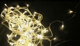 gran bola de luces de navidad Rebajas Adornos navideños de fiesta, blanco cálido de 100 cabezas de 10 metros con una nueva iluminación de tapón de cola, luces LED a prueba de agua de la serie en Chris