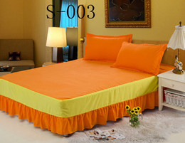 Wholesale orange rose Solid color hotel bed skirt bed spread Bedding Supplies mattress cover twin full queen size Bed Skirt Home Textiles